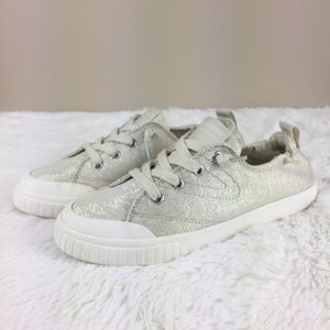 Tretorn Ivory Glitter Fashion Sneakers 6
